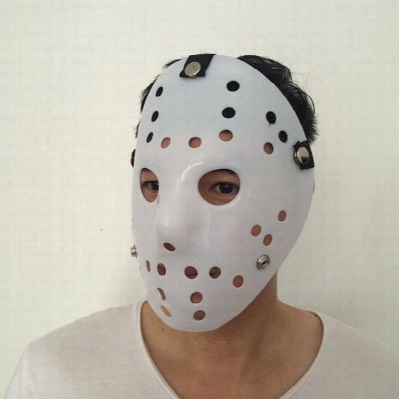 New Jason Mask All White Cosplay Full Face Mask Halloween Party Scary Mask Jason Vs Friday Horror Hockey Film Mask Free Shipping