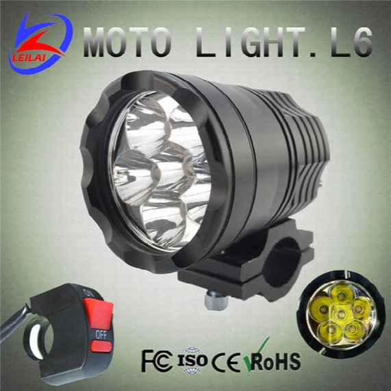 Newest 60w 5000lm Xml U2 Cree Led Work Light Spot Lamp Driving Fog 12v-60v Car 6x10w Motorcycle Boat Atv