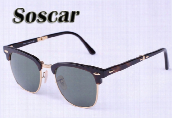 Soscar Folding Sunglasses Brand Authentic Sunglasses Sports Men Designer Sunglasses Uv400 High Quality Glasses 51mm Drop Shipping