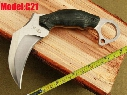 Free shipping Hong Kong Registered Post New MICARTA Handle Karambit Claw Outdoor Pocket Hunting With Sheath Sickle Claw Knife C21