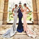 Popular Navy Blue Lace Prom Dresses Mermaid Halter Backless Beaded Celebrity Party Dresses Evening Wear Sexy Red Carpet Gowns Custom Made