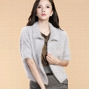 Wholesale- Fashion Cardigan Women Sweatermink Cashmere Wrap Swing Shawl Long hair loose Sweater Coat Shawl sweater Free Shipping