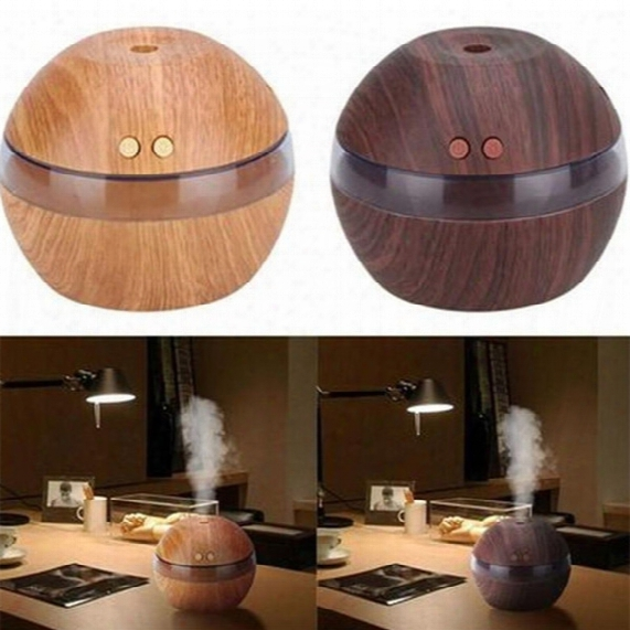 Ultrasonic Air Humidifier Home Aroma Oil Wood Mist Diffuser Usb Car Humidifier Modern Quality Essential Cool Relaxing 1x 300ml
