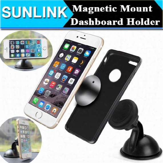 Universal Magnetic Car Phone Holder Windshield Dashboard Mount Sucker Stand Sticky Car Kit For Iphone Samsung All Phone Gps