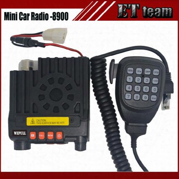 Wholesale- New Two Way Mini Car Mobile Radio Mini-8900 Cb Radio Transceiver Dual Band136-174&400-480mhz Two-way Cb Radio Walkie Talkie 8900