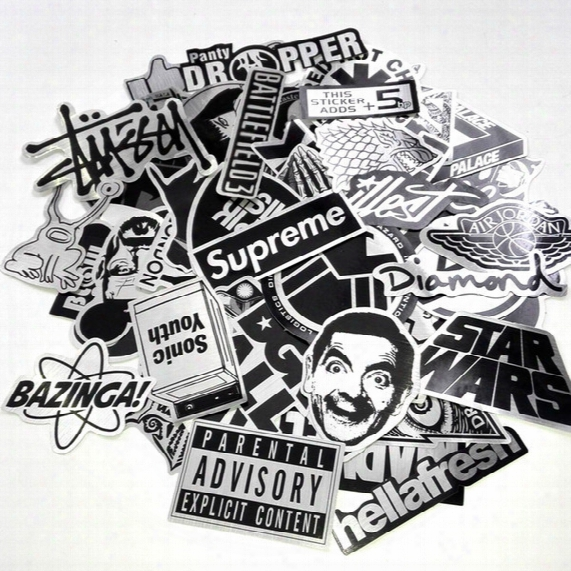 Car Stickers Mixed 55 Design Graffiti Black White Decal Cover/anti Scratch Uv Water For Body Light Brow Front Back Door Bumper Etc