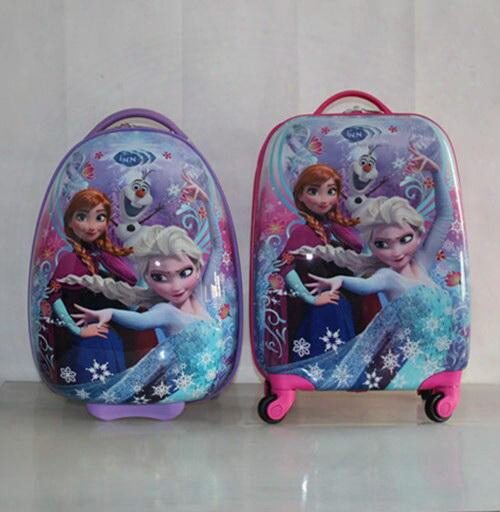 "Cartoon Kids Rolling Luggage Children Trolley School Bags 18"" 16'' Suitcase Travel Bag"