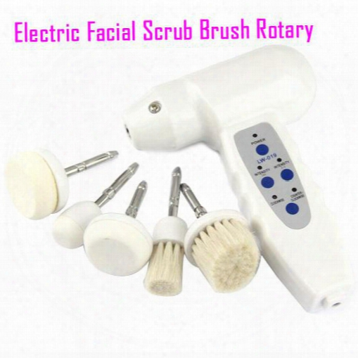 Electric Facial Cleansing Brush Scrub Brushes Rotary Face Care Massager Facial Brush