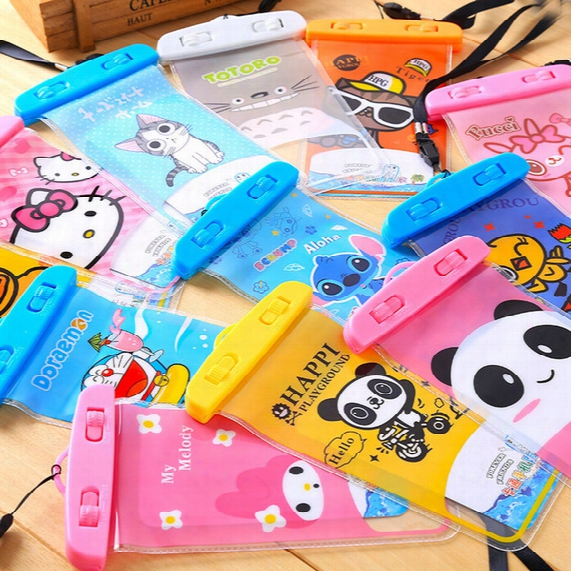 For Iphone Samsung Universal Cartoon Promotional Clear Pvc Waterproof Phone Bag/pvc Waterproof Bag