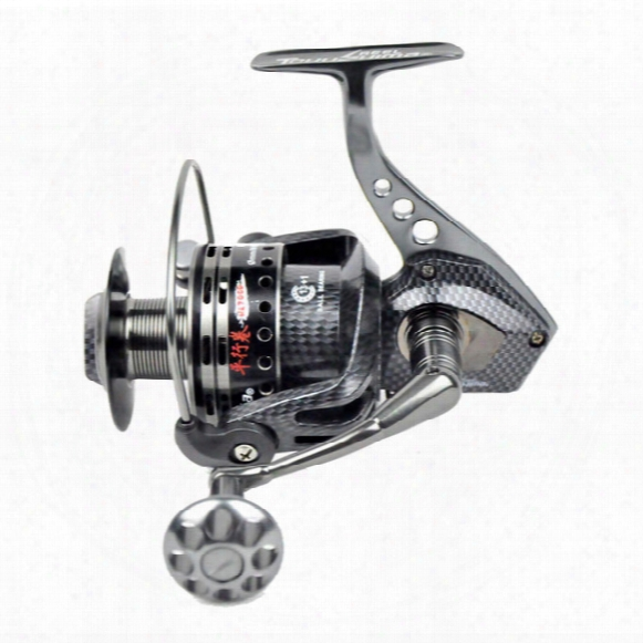 Free Shipping Tokushima Hk Series Fishing Reel Pure Metal + Carbon Spinning Reel 14 Ball Bearing Spinning Reel 3000 4000 5000 6000 7500