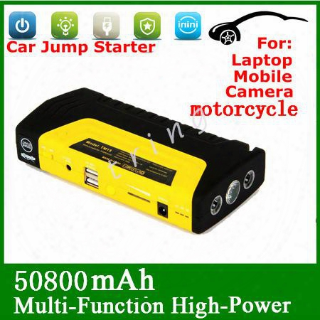 High Quality 50800mah Multi-function 12v Car Battery Charger Jump Starter Car Power Bank Laptop External Rechargeable Battery