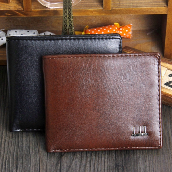 Men's Cheap Synthetic Pu Leather Wallet High Quality Money Pockets Credit/id Cards Holder Purse