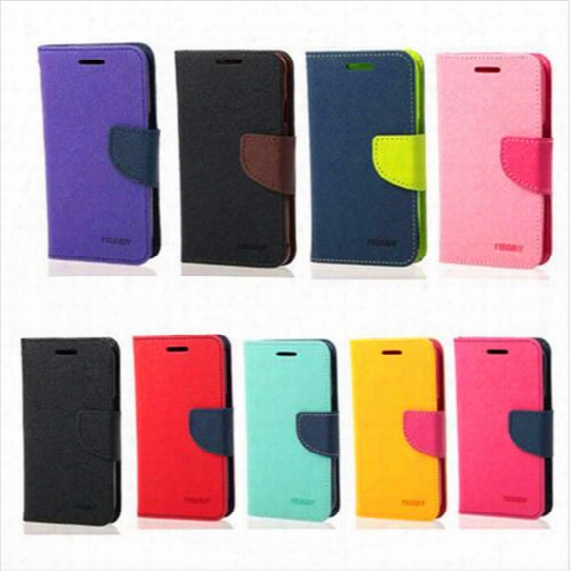 Mercury Pu Leather Flip Case Credit Card Slot Cases Stand Holder Cover For Iphone 5s Se 6 6s Plus 7 7 Plus Samsung S8 S8 Plus S7 S7 Edge