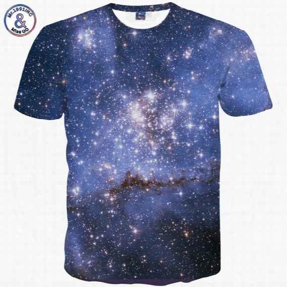 Mr.1991inc Space Galaxy T-shirt For Men/women 3d T-shirt Funny Print Cat Horse Shark Cartoon Fashion Summer T Shirt Tops Tees