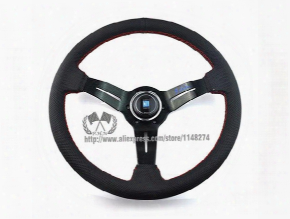 Nardi 350mm Deep Corn Perforated Leather \suede Steering Wheel / High Quality Universal Fitment Have Stock Ready To Ship