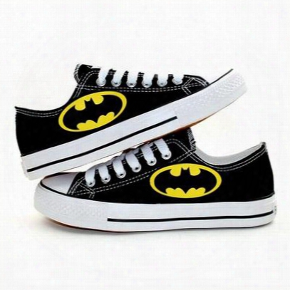 New Arrival Cartoon Batman Logo Canvas Shoes,outdoor Leisure Fashion Sneakers,unisex Casual Shoes Hot Items