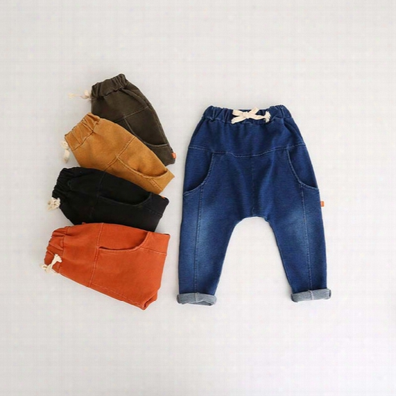 New Autumn Winter Boys & Girls Harem Pants Children Casual Pants Kids Fashion Trousers Toddler Denim Trouser Cargo Pants Child Clothing A828