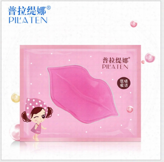 Pilaten Face Care Facial Crystal Collagen Lip Mask Lip Care Moisture, Anti-ageing Wrinkle Patch Pad Gel 50pcs/lot