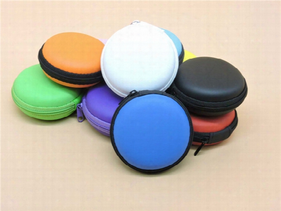 Portable Pu Zipper Bag For Earphone Cable Handspinner Mini Box Headphone Coin Purse Eva Storage Bag Carrying Pouch Pocket Cases Colorful