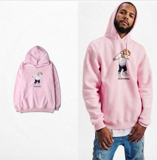 Supremitied Cartoon Funny Bear Pink Vetements Hoodie Oversized Kanye Hip Hop Men Sudaderas Hombre Sweatshirt Women Hoodies