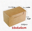 10x6x6cm 100pcs Small brown cattle card kraft paper box / soap box, gift box
