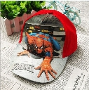Children Cartoon spiderman Hats 2016 New Boys Girls Fashion Ball Caps Kids Visor Hat Child Accessories Hats 2 Colors 15pcs/lot