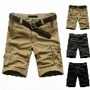 Wholesale-2014 Hot Sale Summer Men's Army Cargo Work Casual Bermuda Shorts Men Fashion Sports Overall Squad Match Trousers Plus size