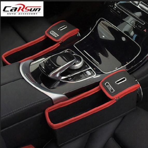 Top Quality Car Seat Gap Filler Leather Phone Storage Box Multi-function Lexusâ is 250 200t 300 Esâ gs 350 450hâ ls 460â nxâ rxâ gx 460â rc 300