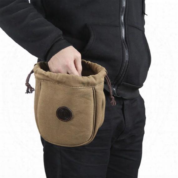 Tourbon Hunting Ammo Shells Pouch Canvas & Leather Shotgun Cartridges Bag Bullet Carrier Gun Accessories Wholesales