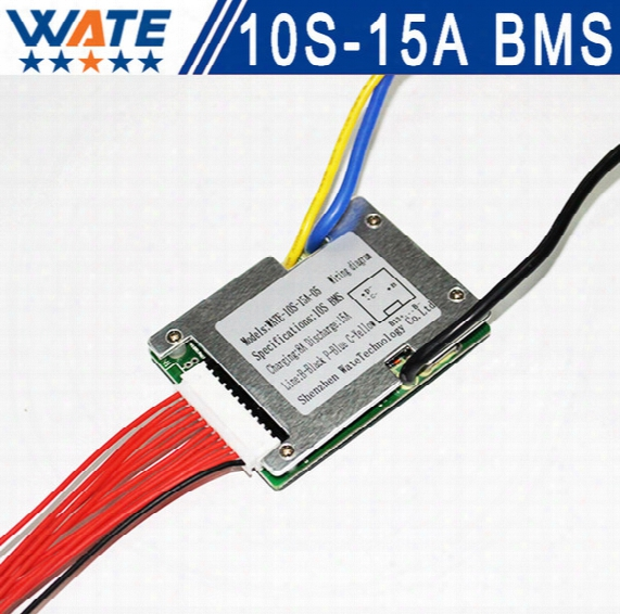 Wholesale- 3.6v/3.7v Cell 10s 36v 10a/15a Bms Used For 36v 10ah 12ah 15ah Battery 15a Continuous 50a Peak Discharge With Balance Function