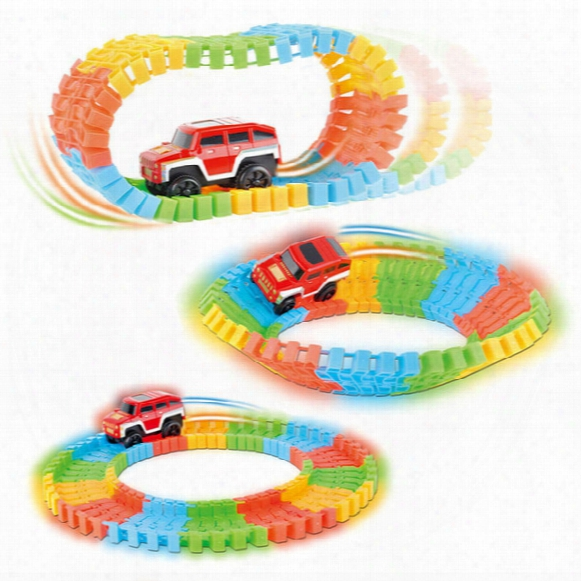 Wholesale Diecast Diy Puzzle Toy Roller Coaster Track Electronics Toy Car Rail Car Toy For Children Random Color