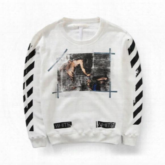 Wholesale-top Version Off White Religion Caravaggio Distressed Round Neck Sweatshirt Kanye Pyrex Crewneck Sweat Shirt Off-white