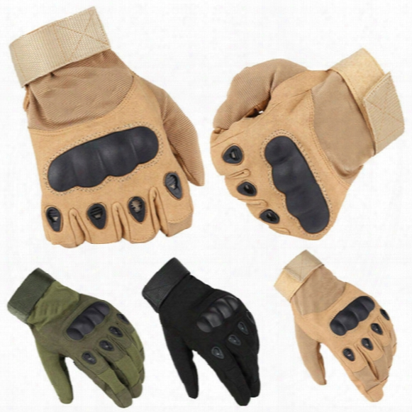 Wholesale- Us Army Tactical Gloves Full Finger Black Hawk Outdoor Sports Safety Combat Motocycle Slip-resistant Carbon Fiber Tortoise Shell