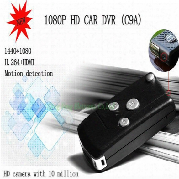 1080p Full Hd Video Car Keychain Remote Spy Camera Dvr With Motion Detection Recorder +32gb Micro Sd Card