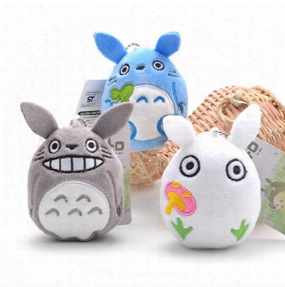 10pcs/lot 9cm Mini Cartoon Totoro Plush Pendant Staffed Soft Anime Totoro Key Chains Bag Pendant Kids Love Toys Doll Gift