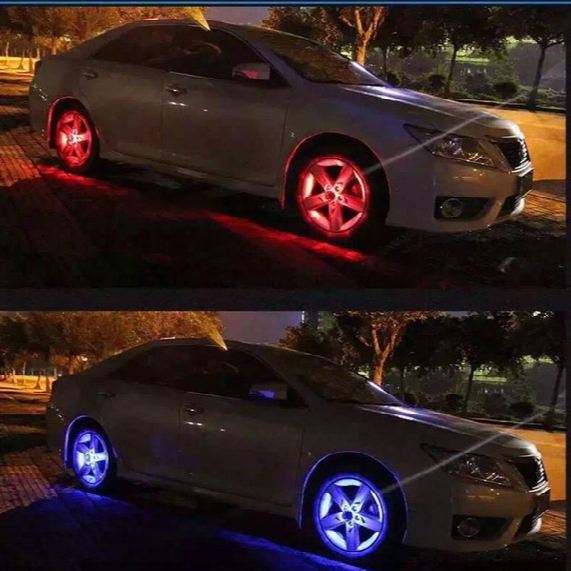 2016 New 4 Modes 12 Led Car Auto Solar Energy Flash Wheel Tire Rim Light Lamp Decoration Free Shipping