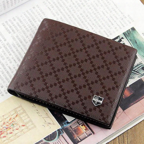 2017 Male Genuine Leather Luxury Wallet Casual Short Designer Card Holder Pocket Fashion Purse Wallets For Men