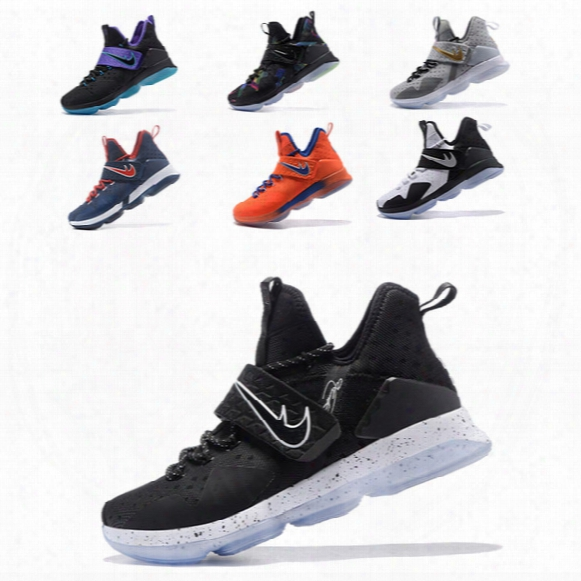 2017 Men Casual Shoes Lebron 14 Triple Black Flip The Switch Carpet Mag Lebron Shoes Bhm Black Ice University Red