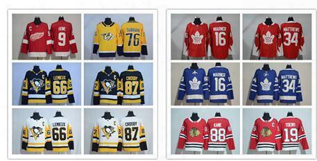 2017/18 New Season 76 Pk Subban 87 Sidney Crosby 16 Marner 34 Auston Matthews 88 Patrick Kane 19 Toews 66 Lemieux 9 Howe Ad Hockey Jerseys