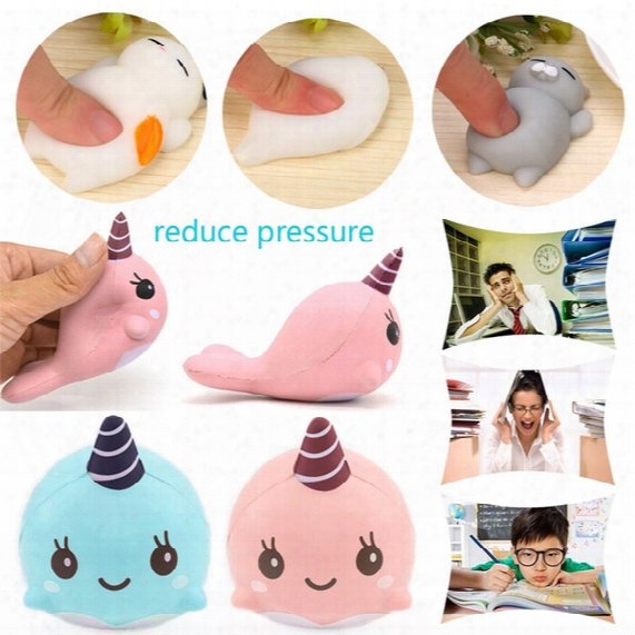 9cm Soft Whale Cartoon Squishy Slow Rising Squeeze Toy Phone Straps Fashion Mall