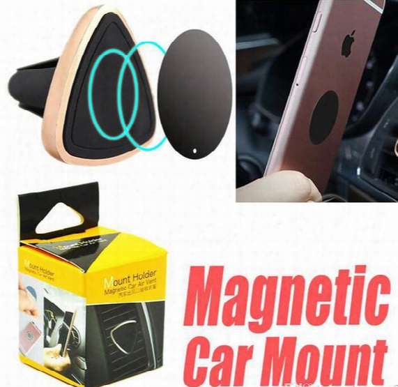 Car Mount Air Vent Magnetic Universal Car Mount Phone Holder For Iphone 6 6s 7 7s , One Step Mounting Reinforced Magnet