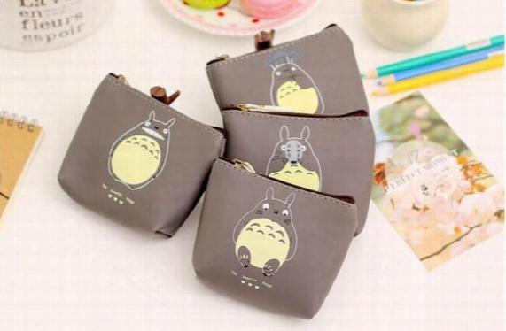 Cartoon Miyazaki Totoro Purse Pu Waterproof Cute Coin Purse Party Kids Purse Bag Children Wallet Headset Bags