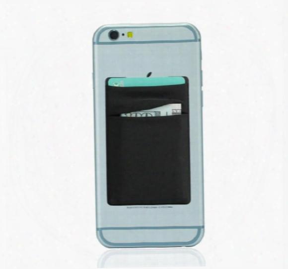 Flexible Lycra Self Adhesive Credi Card Wallet Holder Pocket For Smartphone