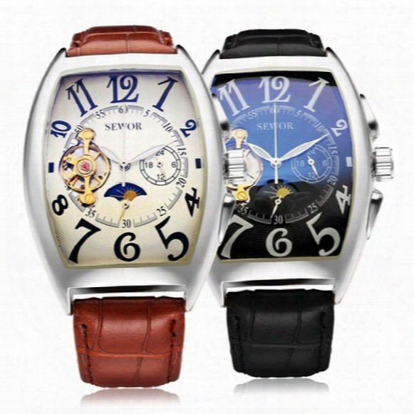 Mens Mechanical Business Watch Stainless Steel Dress Clock Self Winding Automatic Fashion Brand Wristwatch With Date Wholesale Watch W006