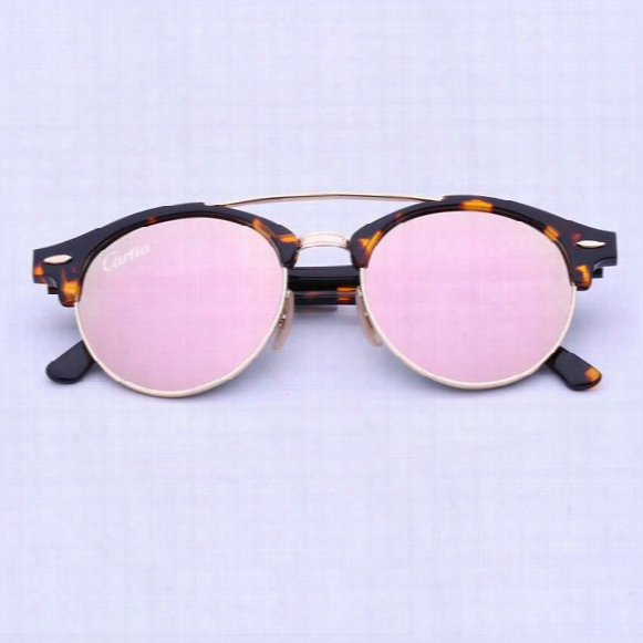 New Arrival Sunglasses Women Brand Designer 4346 Mirror Club Ro Und Sunglasses For Men Carfia 51mm Glasses With Original Box
