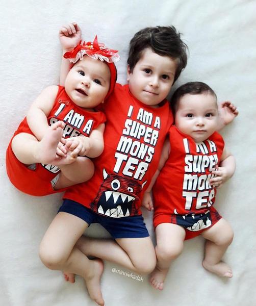 Newborn Baby Clothes Latter Printed Fashion Boys Rompers Summer Cute Cartoon Infant Jumpsuit Toddler Onesie Girls Bodysuit C1407