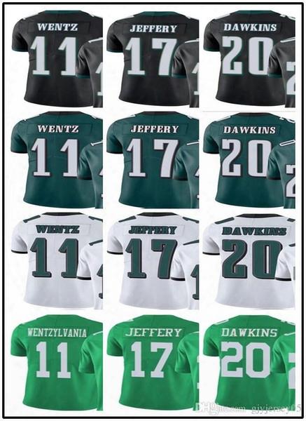 Philadelphia#custom#eagle#men/youth/women#11 Carson Wentz 17 Alshon Jeffery 20 Brian Dawkins Edelman Vapor Untouchable Limited/rush Jerseys