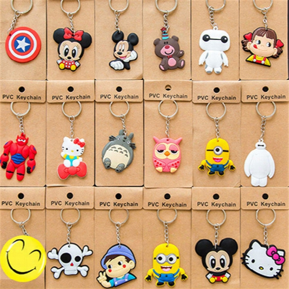 Phone Pendant Car Keychains Key Ring Key Chain Ornaments Gift Cartoon Keychains Double Sided Design Key Chain Kids Gifts B971
