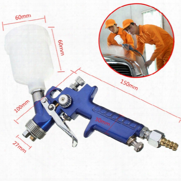 Professional Spray Gun Spray Gun Auto Car Kit 125ml 3 Bar 0.8 Mm 60 X 60 Mm Very Atomization 1 Pc