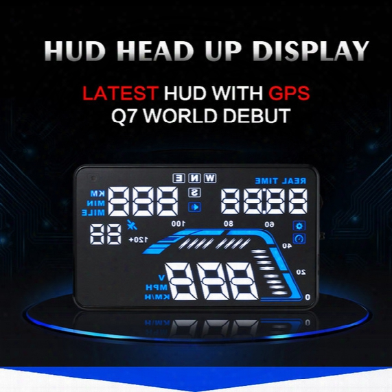 "Q7 Smart Hud Head Up Display 5.5"" Auto Car Hud Gps Speedometers Overspeed Warning Intelligent Dashboard Projector"